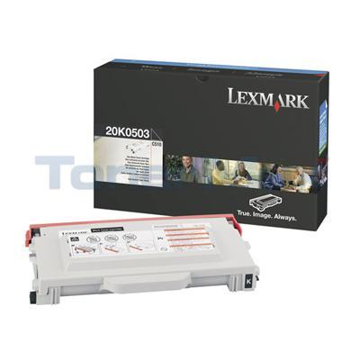 LEXMARK C510 TONER CART BLACK 5K